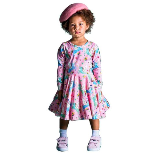 Rock Your Baby Rainbow Pegasus Waisted Dress