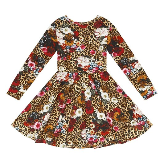 Rock Your Baby Leopard Floral Waisted Dress