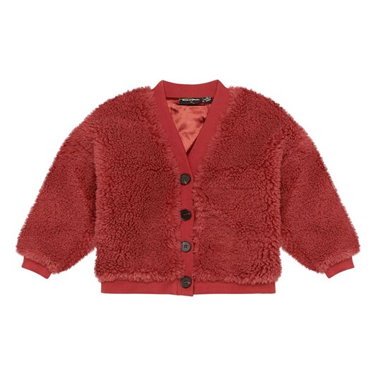 Rock Your Baby Red Sherpa Cardigan