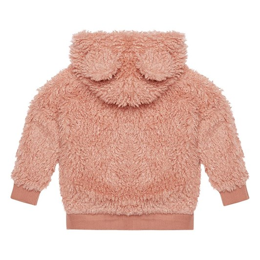 Rock Your Baby Pink Sherpa Bear Hoodie