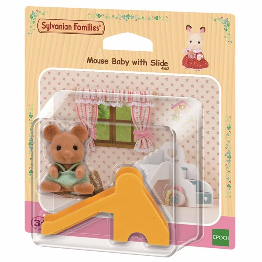 Sylvanian Families Mouse Baby With Slide