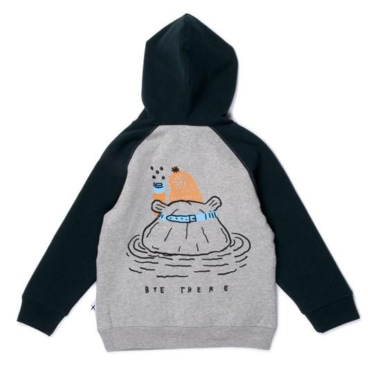 Minti Snorkelling Hippos Furry Hood