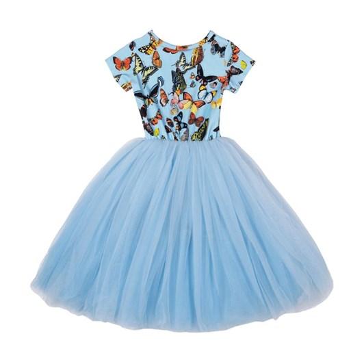 Rock Your Baby Blue Butterflies Flounce Dress