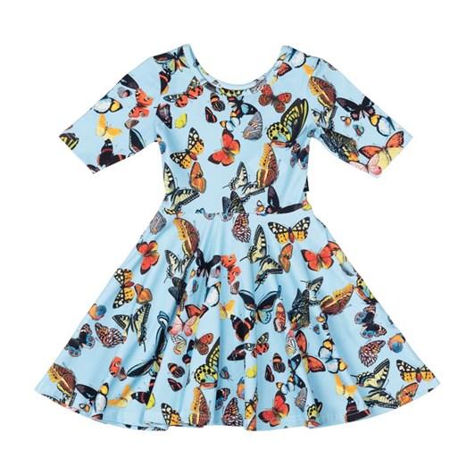 Rock Your Baby Blue Butterflies Waisted Dress