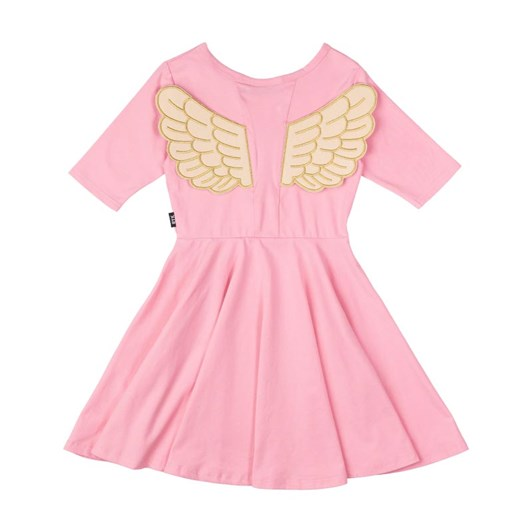 Rock Your Baby Pink Fairy Flutter Waisted Dress
