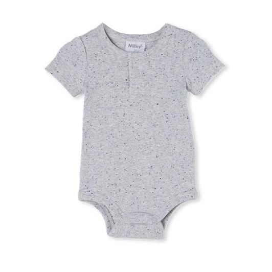 Milky Grey Fleck Rib Bubbysuit