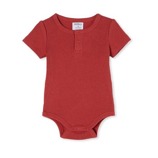 Milky Red Clay Rib Bubbysuit