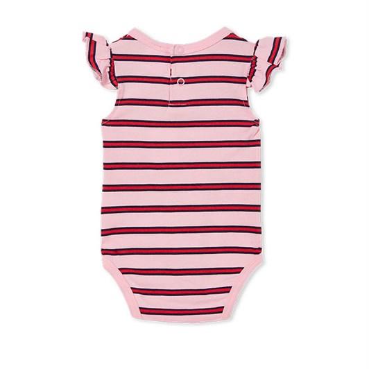 Milky Stripe Rib Bubbysuit Prism Pink