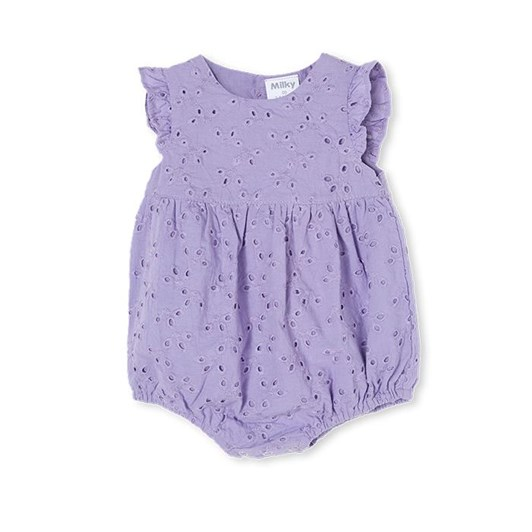 Milky Broderie Playsuit Dusty Lilac