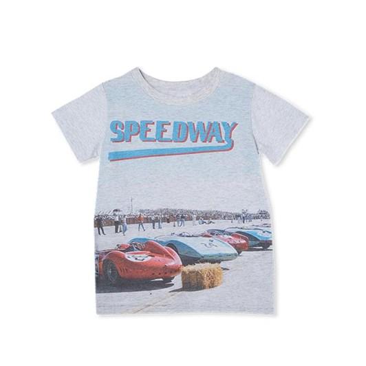 Milky Speedway Tee Silver Marle 2-7Y