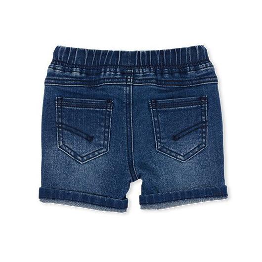 Milky Knit Denim Short Mid Wash Denim 2-7Y