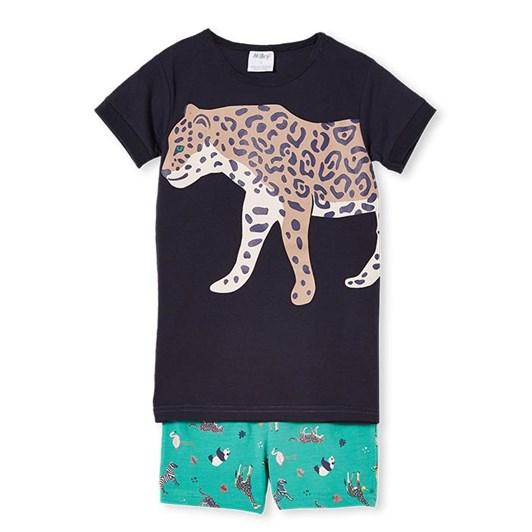 Milky Leopard PJ's Midnight Blue / Marine Green 2-7Y