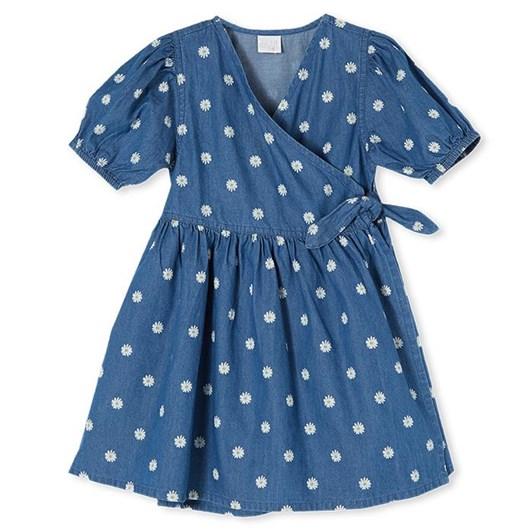 Milky Daisy Dress Chambray 2-7Y