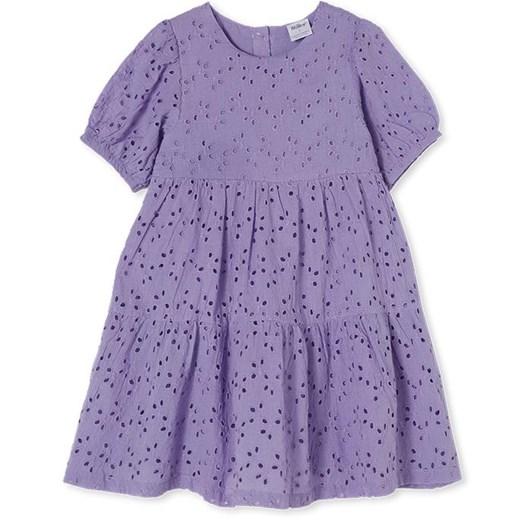 Milky Lilac Broderie Dress 2-7Y