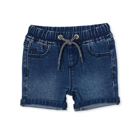 Milky Knit Denim Short Mid Wash Denim 8-12Y