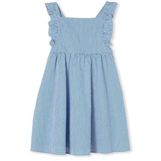 Milky Pinstripe Dress Navy/White 2-7Y