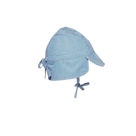 Milky Pinstripe Baby Hat Navy/White