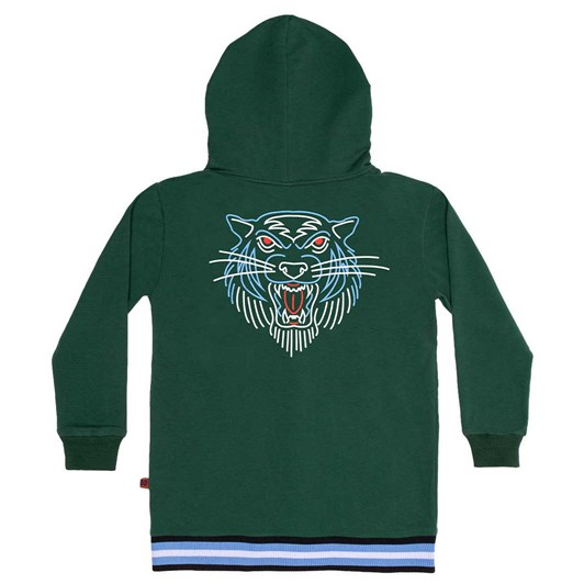 The Bandits by Band of Boys Jumper Line Tiger Zip Hood Green 3-7Y
