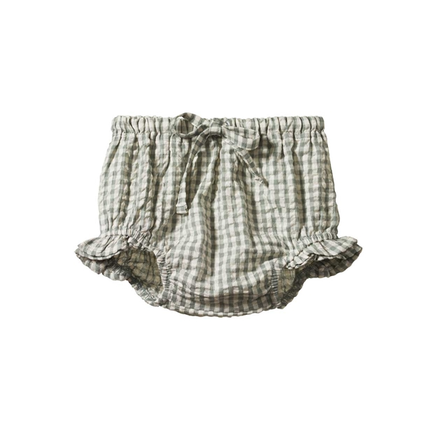 Nature Baby Gingham Petal Bloomers - lagoon check