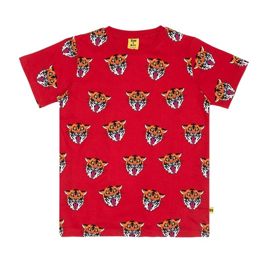 Band of Boys SS Tee Tiger King Repeat Straight Hem Red 8-10Y