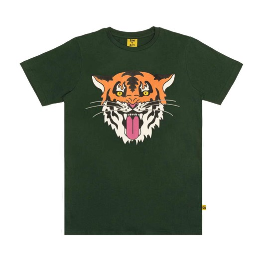 Band of Boys Ss Tee Tiger King Straight Hem Green 3-7Y