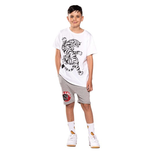 The Bandits by Band of Boys Shorts No Chill Panther Relaxed Marle Grey 3-7Y