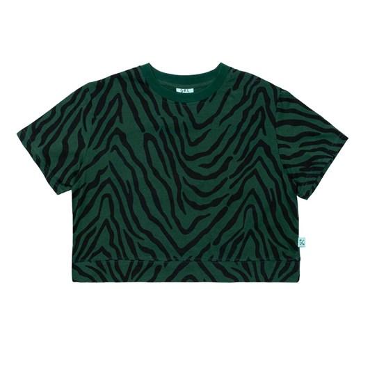 GRLFRND by The Girl Club Ss Tee Tiger Stripe Crop Green 3-7Y