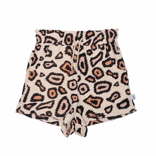 GRLFRND by The Girl Club Shorts Digi Leopard Print Raw Edge Cream 8-12Y