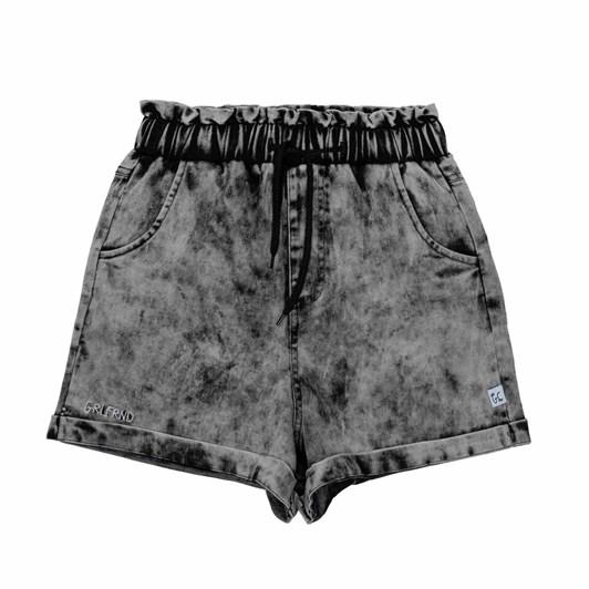 GRLFRND by The Girl Club Shorts Paperbag Waist Denim Vintage Black 8-12Y