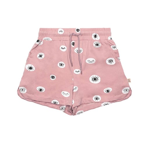 The Girl Club Shorts Eyes Love You Simple Pink 3-7Y