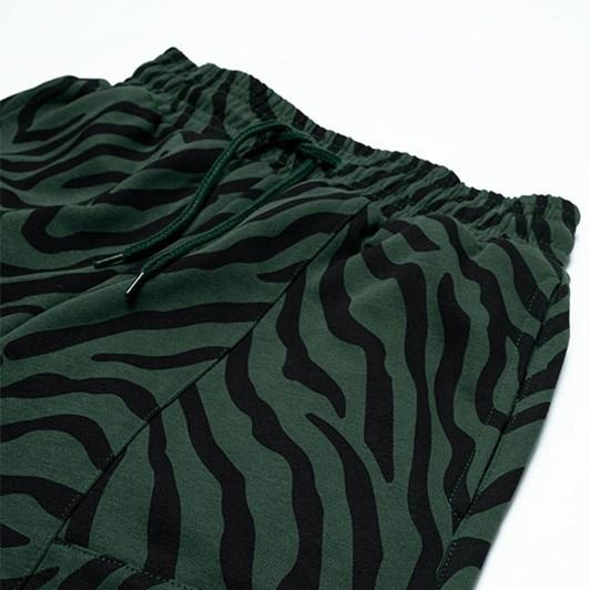 GRLFRND by The Girl Club Shorts Tiger Stripe Panel Green 3-7Y