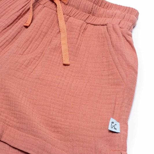 GRLFRND by The Girl Club Shorts Vamp Lips Simple Dusky Pink 3-7Y
