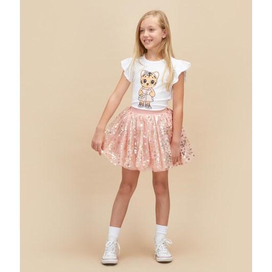 Huxbaby Flower Tigress Frill T-Shirt 3-5Y