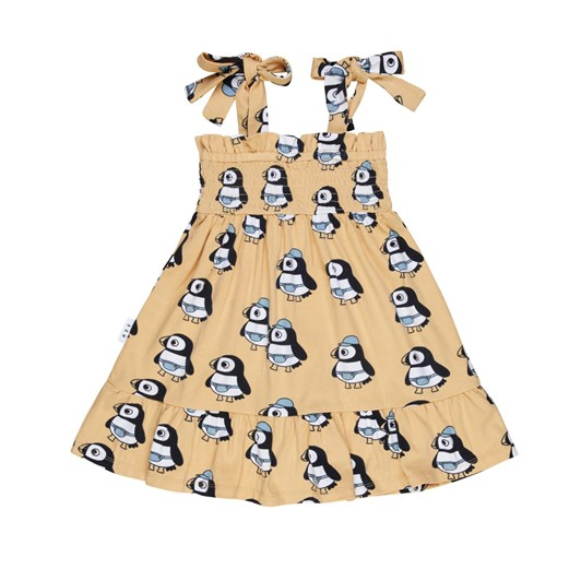 Huxbaby Puffin Shirred Bodice Dress 3-5Y