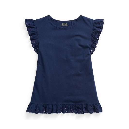 Polo Ralph Lauren Eyelet Cotton Jersey Top