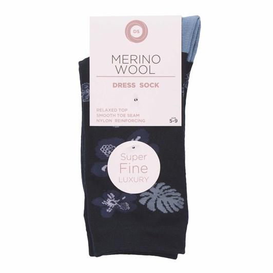 Designer Textiles Merino Wool Hawaian Flower Design Socks