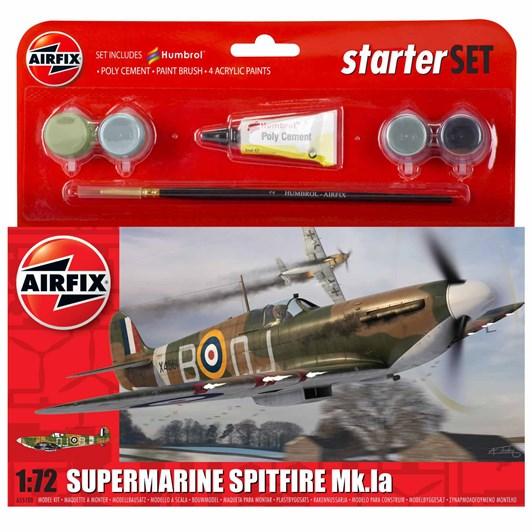 Airfix Supermarine Spitfire Mkia Starter Set 1:72