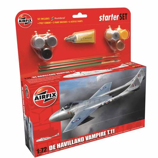 Airfix De Havilland Vampire T11 Starter Set 1:72