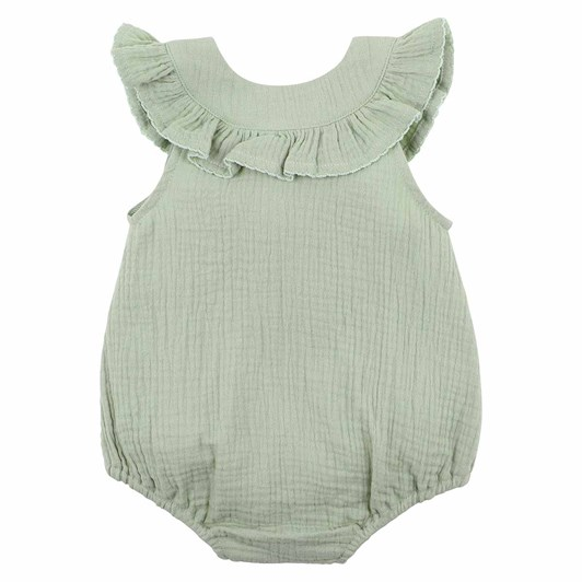 Bebe Sage Crinkle Bodysuit