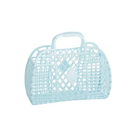 Sun Jellies Retro Basket Blue - Small