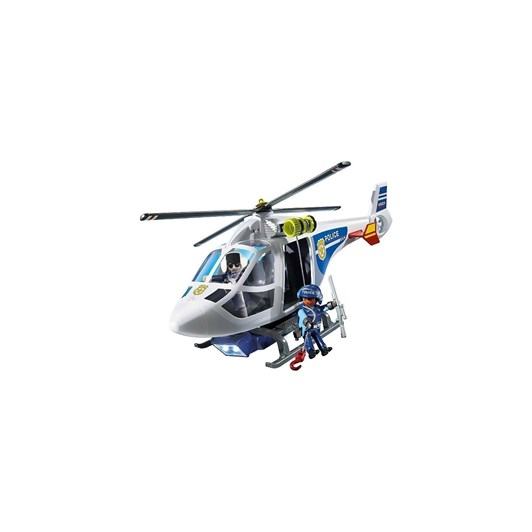 Playmobil Police Helicopter W/Led Searchlight
