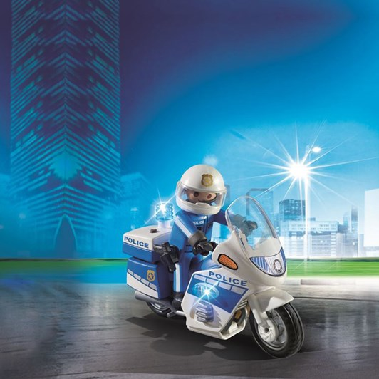 Playmobil Police Bike W/Led Light