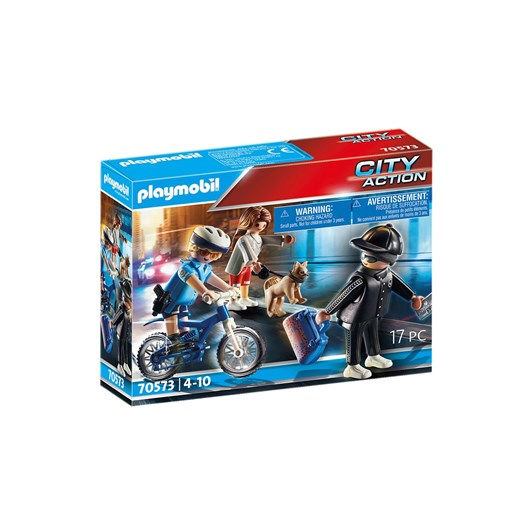 Playmobil Police Bicycle With Thief