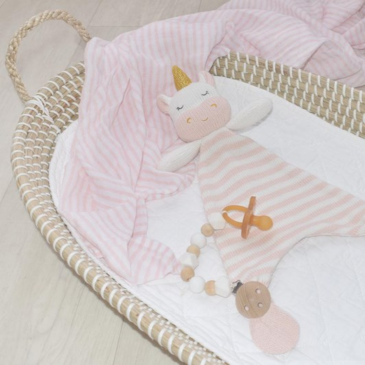 Living Textiles Kenzie the Unicorn Knit Security Blanket