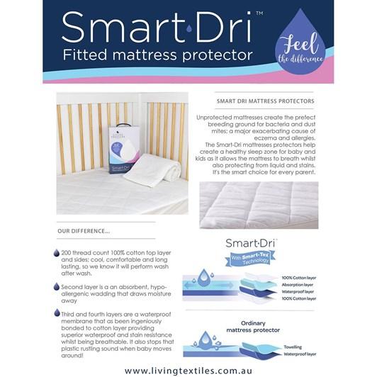 Living Textiles Smart-Dri™ Waterproof Mattress Protector