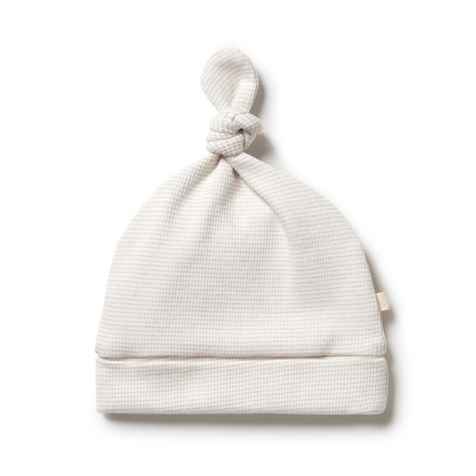 Wilson and Frenchy Organic Stripe Rib Knot Hat - Clay