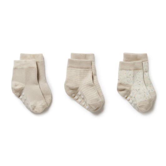 Wilson and Frenchy 3 Pack Baby Socks - Clay