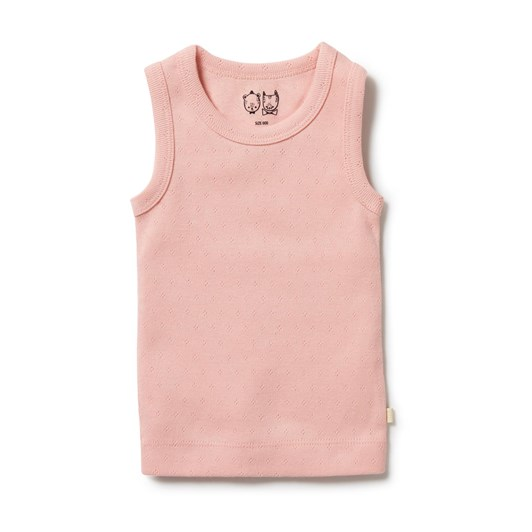 Wilson and Frenchy Organic Pointelle Singlet - Cantaloupe