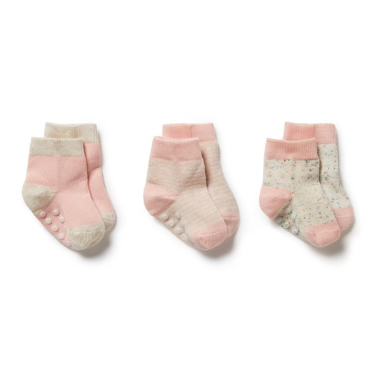 Wilson and Frenchy 3 Pack Baby Socks - Cantaloupe