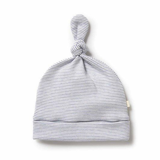 Wilson and Frenchy Organic Stripe Rib Knot Hat - Raindrop